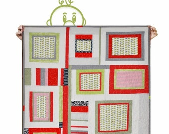 Kid baby Gender neutral Quilt crib bedding- Ladybugs - Red, green, black , cream - ready to ship