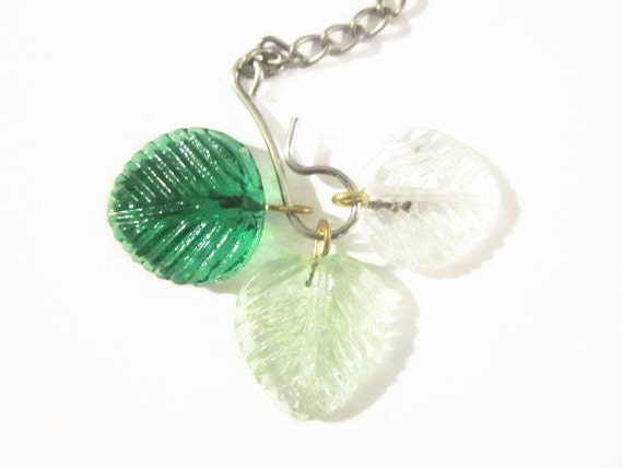 Tea Infuser - Three Leaves (spring) charm - with 2 Inch Mesh Ball