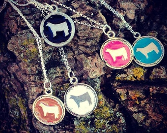 Made in the USA- SHOW CATTLE necklaces