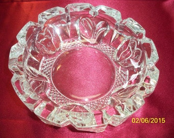 Vintage Princess House Cut Crystal Ashtray Made in Indonesia