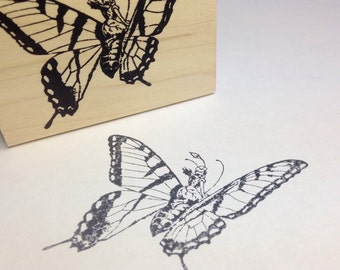 Fairy on Monarch  Rubber Stamp 4977