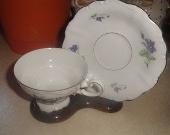 vintage haviland bone china cup saucer set violets tea coffee