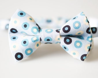 Baby Bowtie - Light Blue with Dots - Toddler Bow Tie