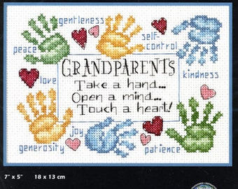 Dimensions Grandparents Counted Cross Stitch  Grandparents Touch a Heart