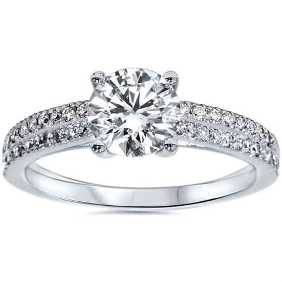 Lab Grown Diamond Engagement Ring Platinum Diamond Engagement