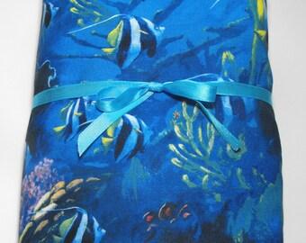 Toddler Bedding or Crib Bedding Fitted Sheet Sealife Fish