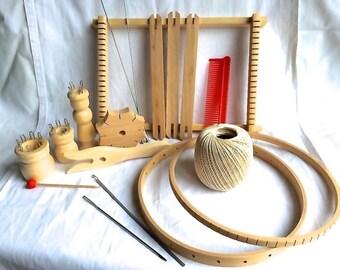 XXL children chraft / weaving loom / knitting doll / fork / round loom / star knotting / handcraft