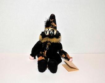 1990 Handmade Music Box Clown Doll --  The Entertainer