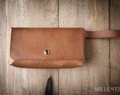 Leather Clutch, leather purse, brown leather clutch, simple purse 101