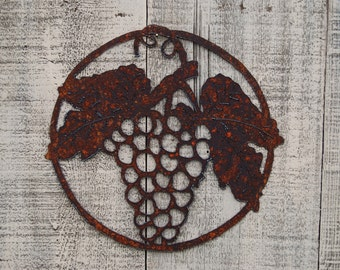 Wine Grapes Wall Hanging Grapevine Bunch of Grapes Wall decor