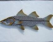 Snook Fish Metal Wall Art Miller Light Bottle Cap Art