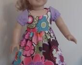 American Girl Doll Purple Flower Dress