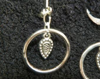 Circle Earrings Hoop Earrings Silver Earrings teardrop earrings round earrings lead and nickel free birthday present birhday gift
