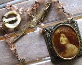 Victorian Eternal Love Assemblage Necklace