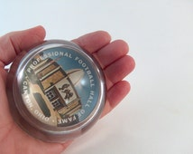 Vintage Paperweight Football Hall of Fame Canton Ohio Souvenir Collectible