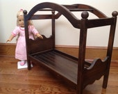 Ready to ship. Espresso Canopy Bed for 18 in American Girl doll