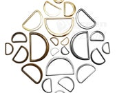 10 psc. Molded solid cast flat D rings buckles for webbing different sizes and colours