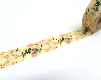 Flower Garden Washi Tape - Floral Washi Tape - Pattern A
