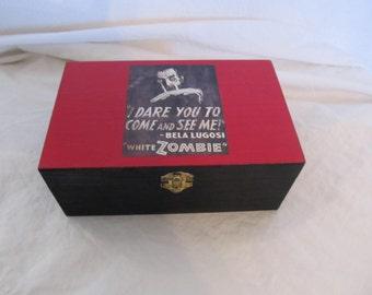 White Zombie Classic Horror Bela Lugosi Keepsake Trinket Box