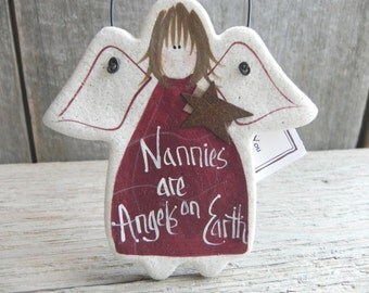 Nannies Gift Salt Dough Babysitter Ornament / Thank You / Appreciation Gift