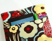 Macbook Pro Case / Macbook Pro Sleeve / Laptop sleeve / Padded with Pocket  - floral