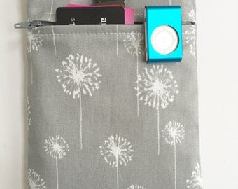 iPad Mini Case - Galaxy - Tablet case - Zippered Front Pocket - Dandelions