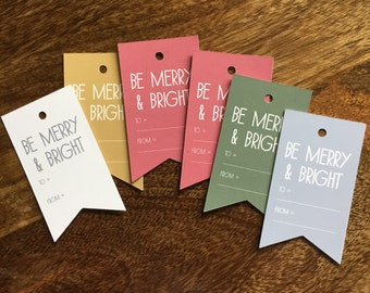 Christmas Tags - Assorted Colors, Gift tags for Holidays