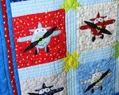 PDF Pattern - Applique Airplane Baby Quilt Pattern - 8-Inch Blocks