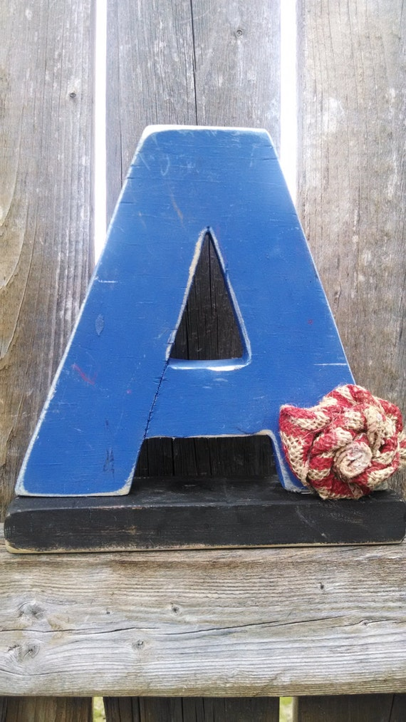 Shabby chic letter A, shelf sitter