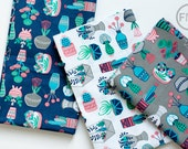 Fat Quarter Bundle What a Gem Succulents, 3 Pieces, Allison Cole, 100% Cotton, Camelot Fabrics, 8140602