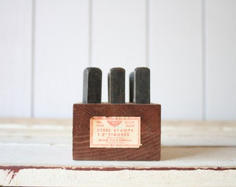 Vintage Letterpress Stamp Set // Steel Stamps