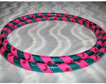 BUDGET CELESTIAL Heavy Weight hoop // Adult Beginner // Collapsible hula hoop // CUSTOM colors, tape, and diameter