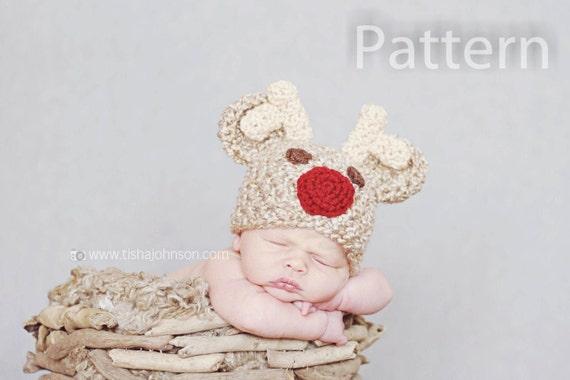 Crochet Pattern For Rudolph Hat : Items similar to PDF CROCHET PATTERN Crochet Rudolph Hat ...
