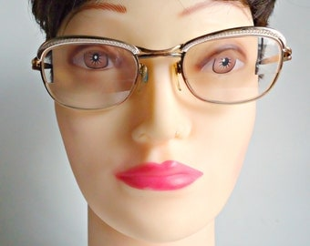 Vintage Eyeglass Frames Amor France Gold Filled Frames 1950's Steampunk