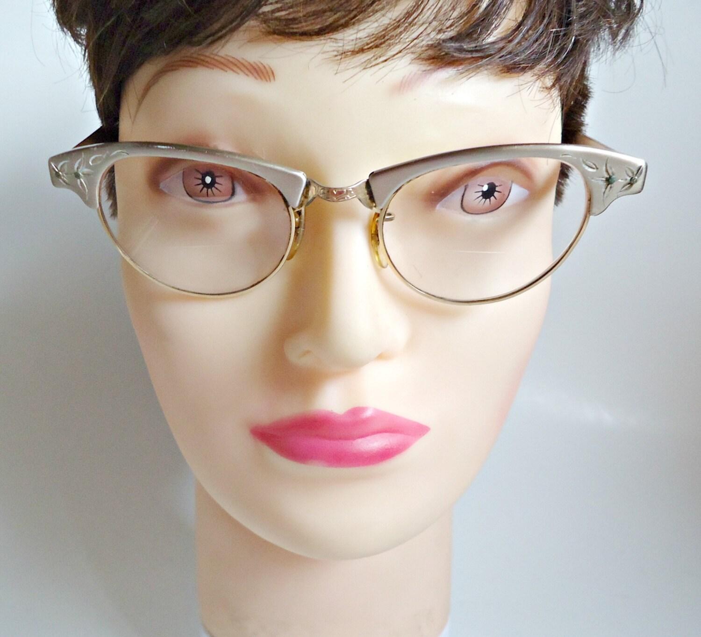 Vintage eyeglass frames art craft etched by treasurecoveally for Art craft eyeglasses vintage
