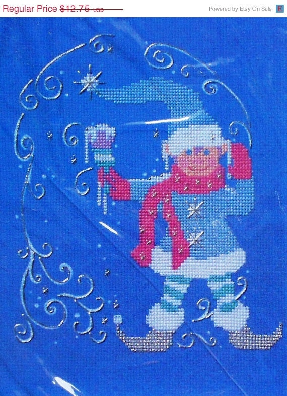 75%OFF Vintage The Creative Circle JACK FROST Picture 2447 - Counted Cross Stitch Pattern Chart Kit - Designed By Rebecca Salari-Taylor