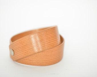 woman gift idea wooden bracelet / wood bangle / wooden cuff / wood jewel / Douglas fir bracelet