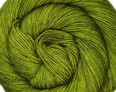 sw merino nylon high twist sock yarn RADIOACTIVE SWAMP hand dyed fingering weight 3.5oz 400 yards
