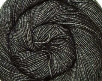 sw merino or bfl nylon high twist sock yarn BATTLESHIP hand dyed fingering weight 3.5oz 400 yards