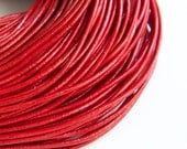 Red Leather Cord Greek leather cord 2mm 1m- 1 yard S 40 117