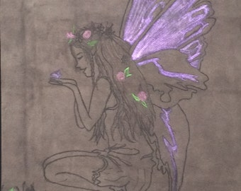 Forest Fairy COLOR Leather Pyrography