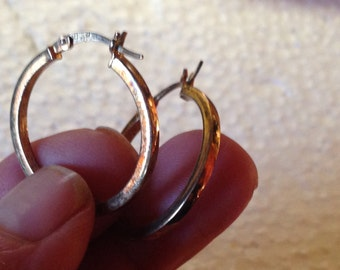925 Silver Earrings Hoop Circle JCM lot 786