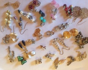 Earrings Pierced Vintage De-stash lot 417