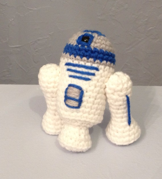 Free Crochet Patterns Amigurumi Star Wars : Crocheted R2-D2 Robot Amigurumi robot