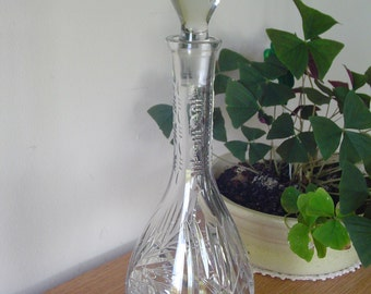 Lead Crystal Wine Decanter Lead Crystal Decanter with Stopper Lead Crystal Glass Decanter - Gorgeous Decanter