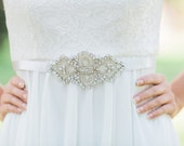 ODILE sash, bridal beaded sash, wedding  beaded belt,  Bridal sash, wedding dress sash, wedding belt, rhinestone beaded sash