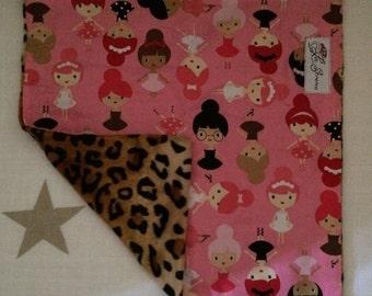 "Leopard & Ballerina Mini Baby Blanket: ""Sinead"" Yummy"