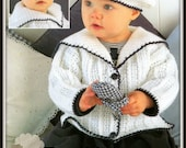 Instant Download - PDF Crochet Pattern for Babies/Childs Jackets and Beret Set