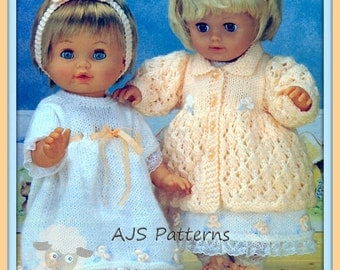 PDF Knitting Pattern For Baby Dolls Layette Sets - Instant Download