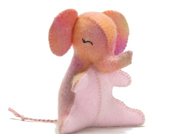 Felt elephant sewing pattern, PDF instant download